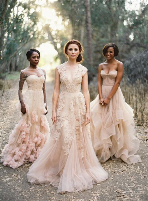 blush color dress how to wear a blush wedding dress wedding ideas
