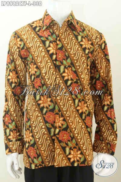 Batik Slimfit Premium Bunga Parang Serangkai batik hem parang bunga nan istimewa pakaian batik cap tulis lengan panjang furing harga