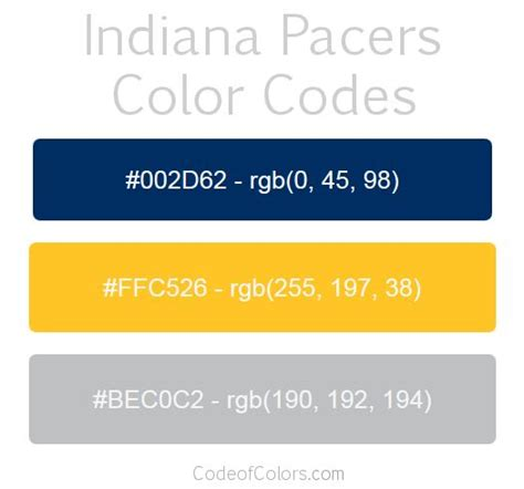indiana pacers colors 30 best nba team colors images on color boards