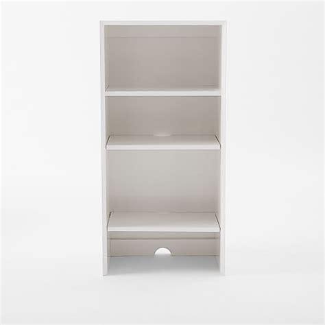 elm white bookcase mid century bookcases white elm