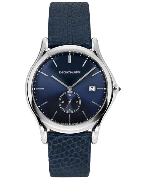 Emporio Armani 2 lyst emporio armani emporio armani s swiss blue leather 40mm ars1010 in blue