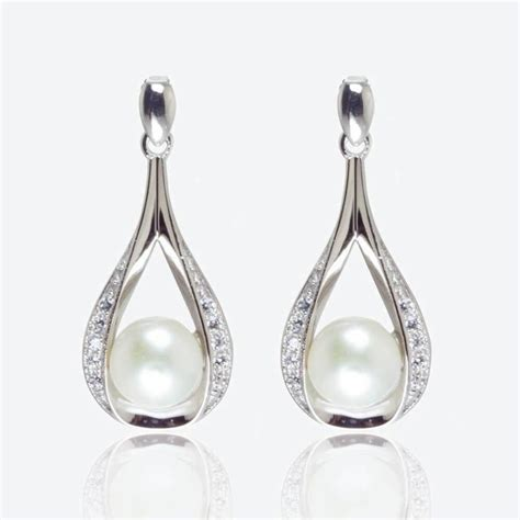 Earrings Sterling Silver the suzette sterling silver cultured freshwater pearl earrings