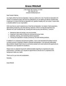 Food Service Specialist Cover Letter by Best Food Service Specialist Cover Letter Exles Livecareer