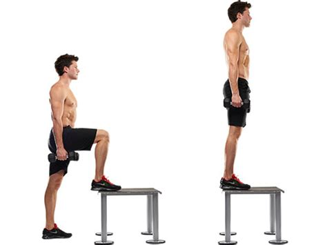 step bench exercises workout routine for rock climbers