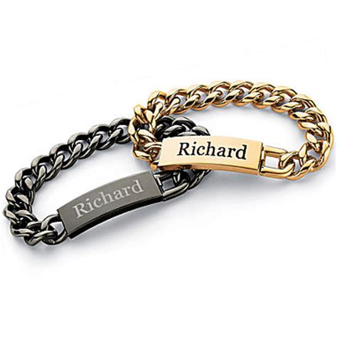 personalized mens stainless steel name bracelet jcpenney