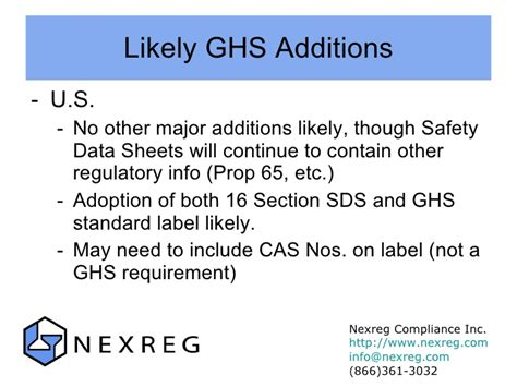 ghs 16 sections ghs presentation for sata