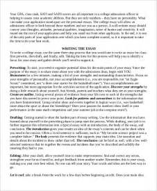 College Application Essay Introduction College Essay Exle 7 Sles In Word Pdf
