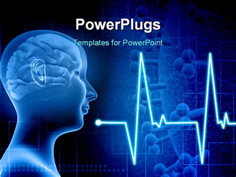 layout body powerpoint powerpoint template human brain in a human body with ecg