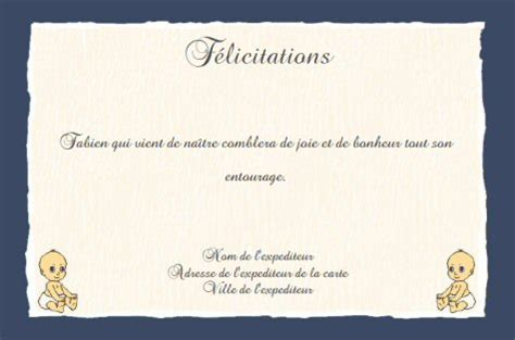 Exemple De Lettre Felicitation Naissance Faire Part De F 233 Licitations De Naissance Gratuit 224 Imprimer A Imprimer