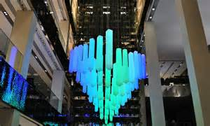 Chandelier Shopping Shape Shifting Led Light Chandelier On Permanent Display In Moscow Shopping Center Led