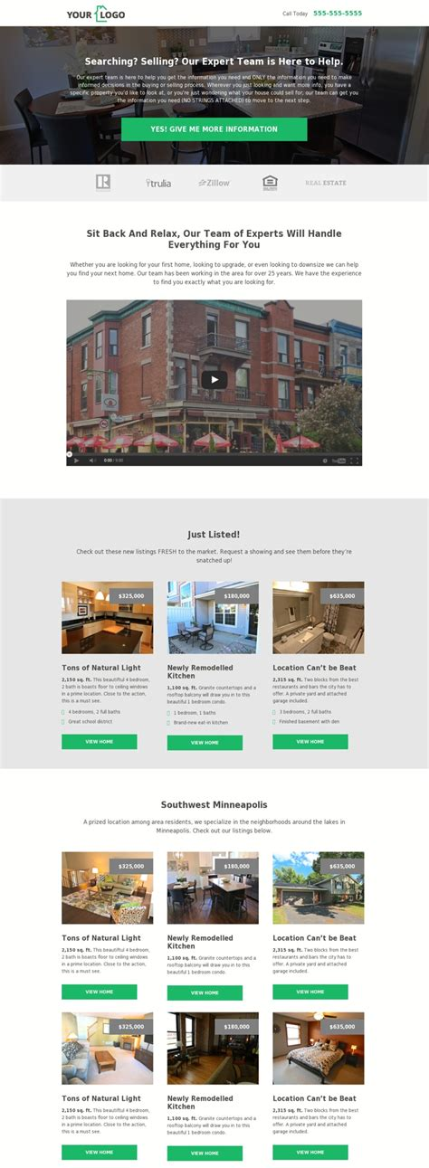 5 Real Estate Templates For Building High Converting Landing Pages Leadpages Blog Marketplace Website Template