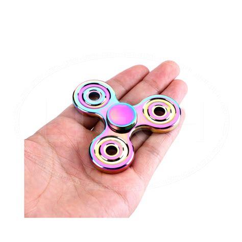 ebay trending rainbow fidget spinner metal multi colour spinner trending