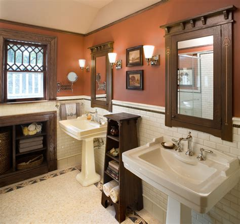 Craftsman Style Bathroom Ideas by Bathroom1 Hill House Craftsman Bathroom New York
