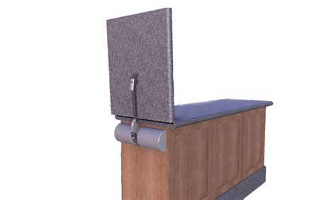 Bar Top Hinges new device balances countertop doors easily and affordably
