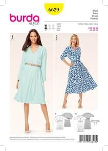 burda 6629 misses dress