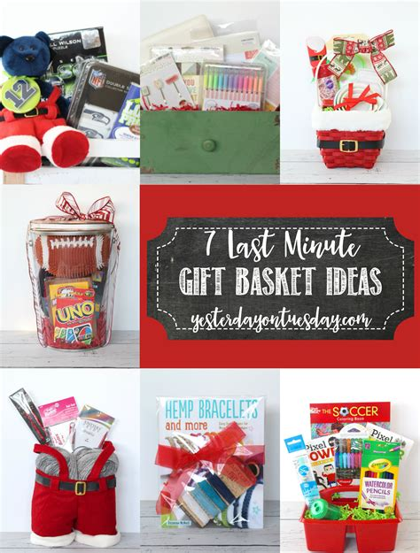 Gift Ideas And - 7 last minute gift basket ideas