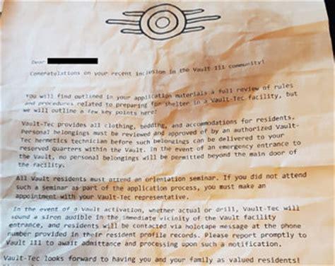 Magnet School Acceptance Letter Las Vegas Vault Tec Etsy