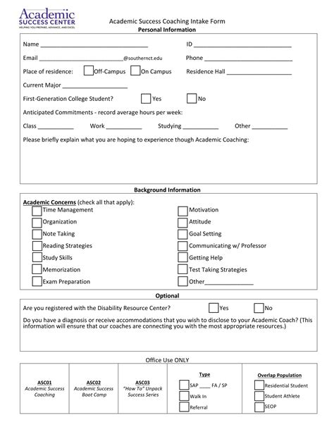 10 Coaching Intake Forms Pdf Doc Coaching Intake Form Template