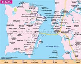 penang map map of penang city malaysia