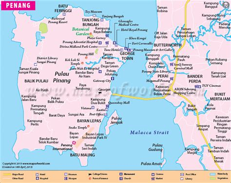 printable map georgetown penang penang map map of penang city malaysia