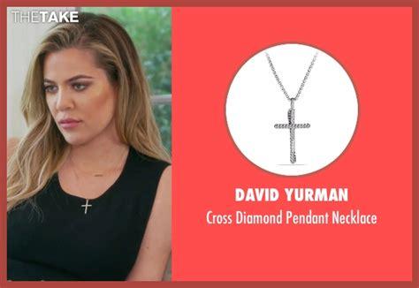 khloe kardashian coin necklace khloe kardashian s silver david yurman cross diamond