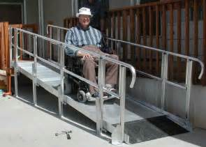Wheelchair assistance used wheelchair ramps