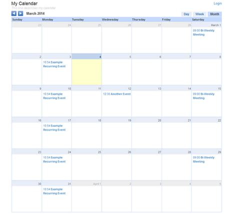 calendar web plugin web plugin website plugin