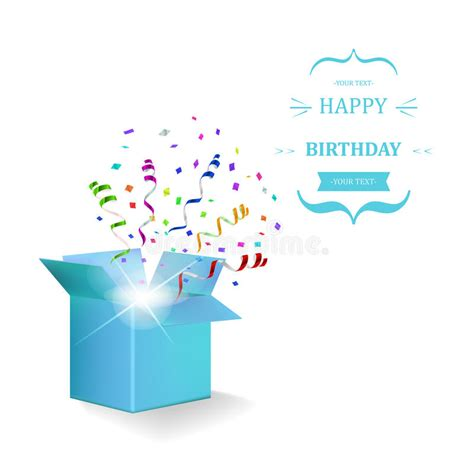 confetti by happybox happy birthday box with confetti vector stock