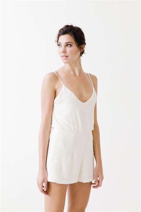 Wedding Dress Romper by Seven Wedding Dresses Fall 2015