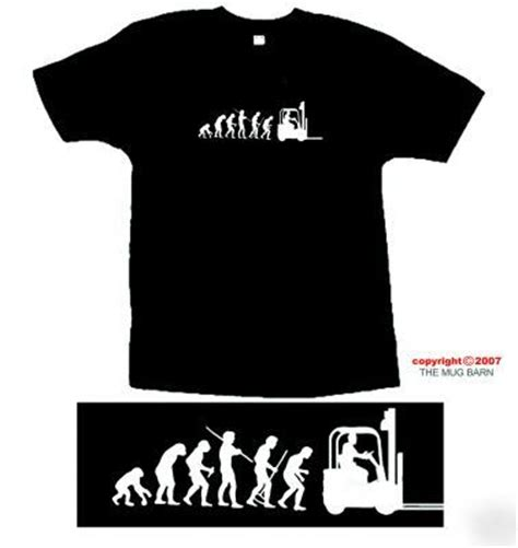 Tshirt Minieset Driver White Original forklift truck driver mens t shirt size x large xl