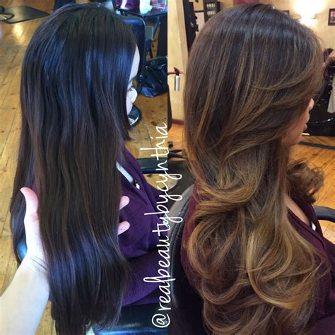 balayage highlights before and after home kit balayage highlights before and after