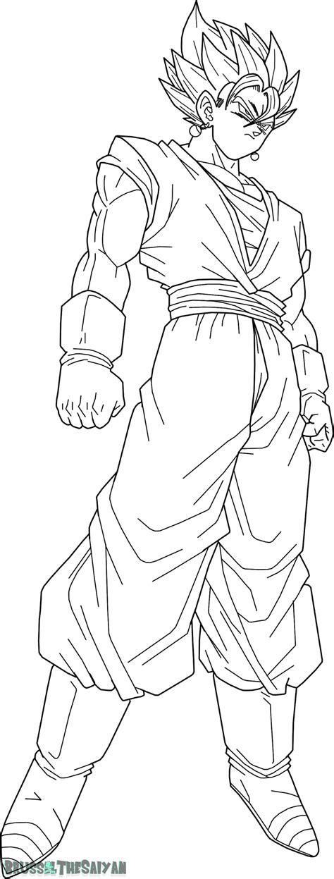 how to draw super vegito dragon ball z step 7 dark brown