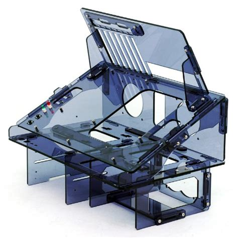 dragon computer case myopenpc bench dragon transparent