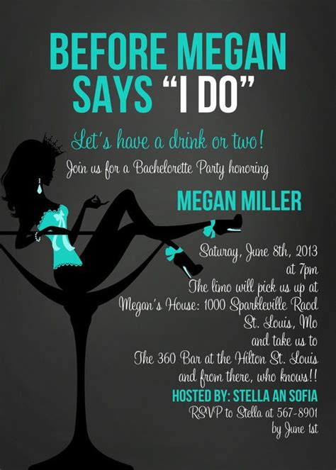 bachelorette invitation sayings and quotes