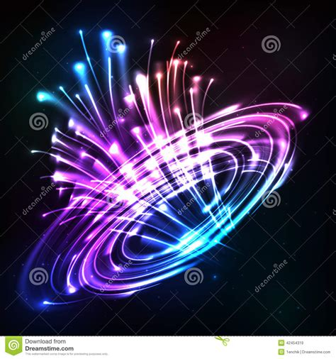 what is the color of a neon light neon lights vector cosmic explode stock vector image