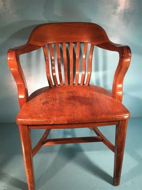 unique chair antique vintage lawyers bankers library oak desk barrel