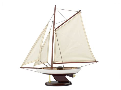 Sailboat Models For Decoration by Buy Wooden Bermuda Sloop Model Sailboat Decoration 17 Inch