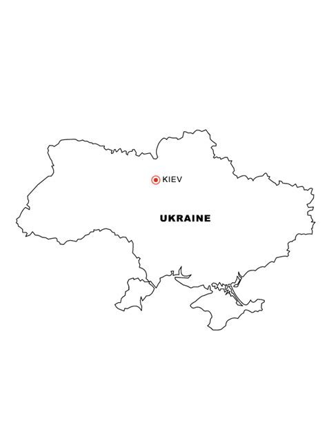ukraine map coloring page ukraine map free colouring pages