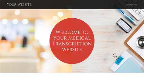 Exle 17 Medical Transcription Website Template Godaddy Transcription Website Templates