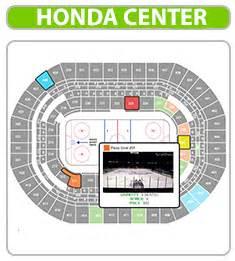 Honda Center Seat Map Anaheim Ducks Seating Chart Honda Center Guide