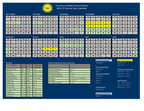 District Calendar District Calendar District