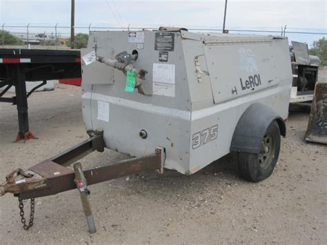 1997 leroi 375 portable air compressor model q375dkf 375 cfm fluid capacity fuel tank 50 gal