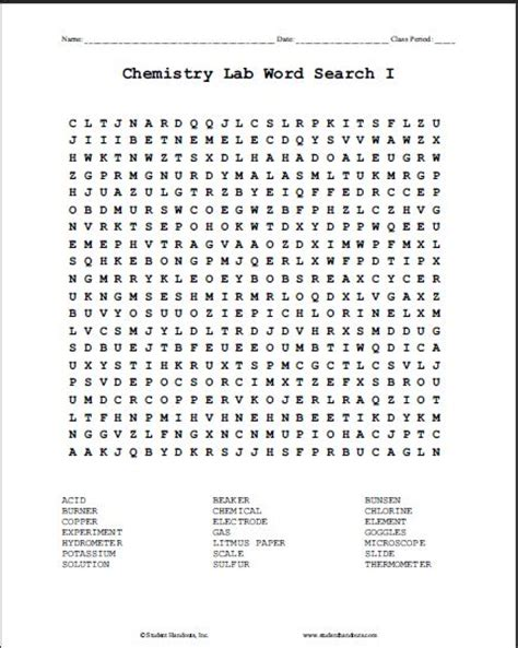 free printable word search maker with answer key chemistry lab terms printable word search puzzle 1