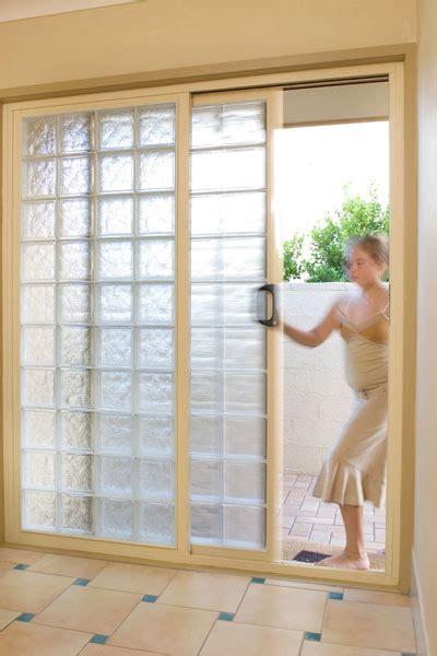 Glass Block Doors Sliding Doors With Glass Blocks