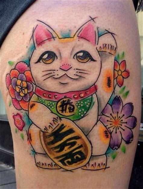 tattoo cat neko lucky cat manekineko cat tattoo i love this cat