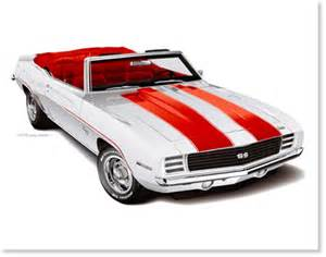 1969 camaro pace car   automotive artwork by greg