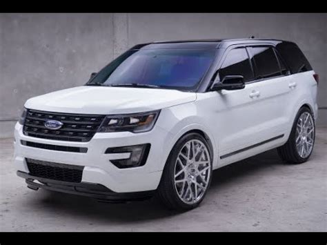 release 2018 ford explorer white with black top | 2018