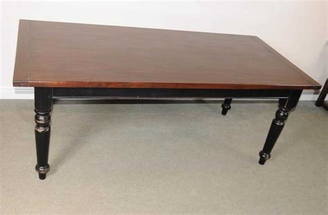 Painted Oak Dining Table Oak Refectory Table Painted Base Kitchen Farmhouse Dining Tables