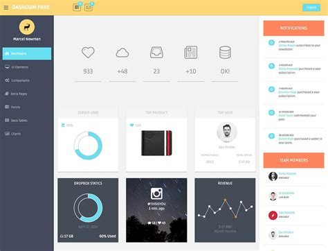free admin dashboard template bootstrap colored badges phpsourcecode net