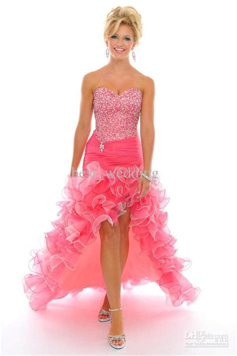 Chiffon Pink Front Short Back Long Cocktail Dress Evening Dress Party Dress Prom Dress Prom Gown